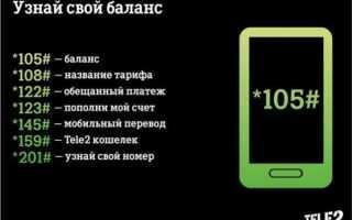 Тарифы теле2 ussd