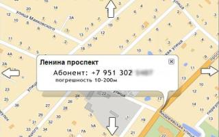 Определение местоположения сотового телефона