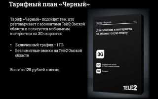Тарифный план черный на теле2 описание