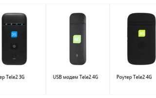 Тарифы для мобильного роутера теле2