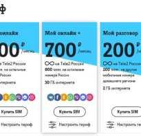 Тарифы теле2 красноярский край 2020
