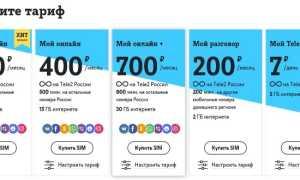 Тарифы теле2 саранск 2020